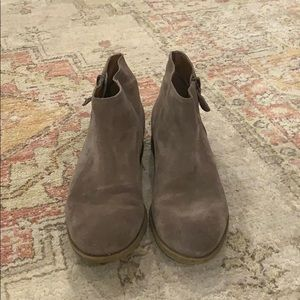 Enzo Angiolini suede ankle booties